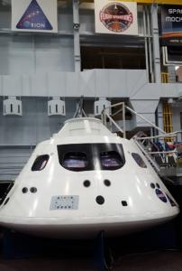 Exterior Orion capsule training mockup, NASA Houston