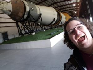 me with Saturn V rocket, NASA Houston